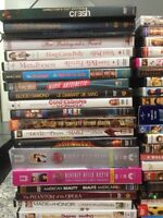 DVDs $2 each or $45 for all. TV series $5 each