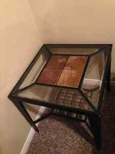 Glass coffee table and 1 end table London Ontario image 1