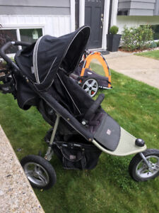 Valco baby stroller with toddler seat.
