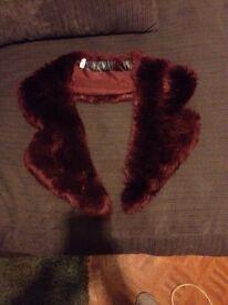 Top shop fur trim