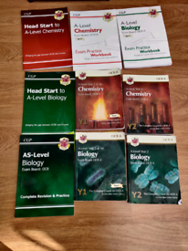 A-level Chemistry and Biology books