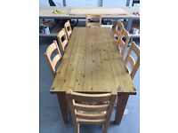 Beautiful Solid Pine Table and 8 Chairs