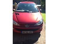 Pug 206 in good condition full mot will come with this car