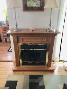 Solid Oak Electric Fireplace