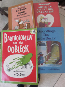 Lot of 4 Vintage Bks - Groundhogs Day, Oobleck, Hattie be quiet