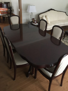 Dining Table and China Cabinet Set LEDA 13 piece