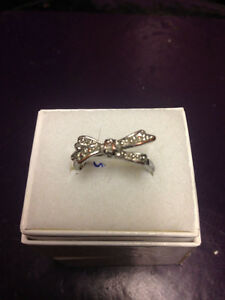 Diamond Ring 10K Bow $75