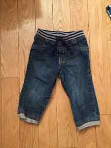 Toddler 18-24m pull-on jeans. Never worn