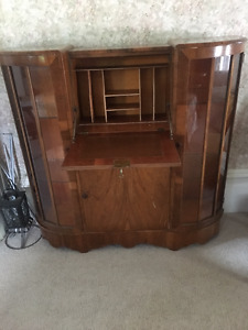 Curved Wood Cabinet