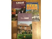 3 family guide books, family walks, hotels, beer.