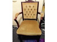 Antique Carved arm chair, Forest Gate