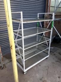 Coldroom shelving/ storage shelving on wheels