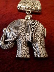 elephant jewellery scarf clip