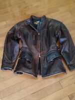 HARLEY WOMENS BROWN LEATHER JACKET, LIKE NEW-Size: Small