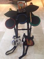 Guitar Hero 3 Guitar And Drums W/ 1 game Wii