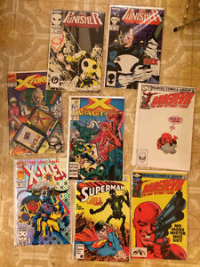 Daredevil, Punisher, and X-Men Comics