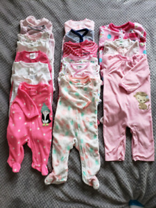 Baby girl sleepsuits 18 count