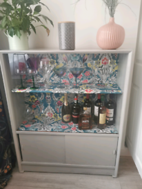 Mid century upcycled drink cabinet