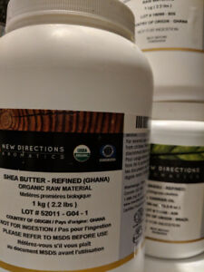 New Direction products for making body butters and other