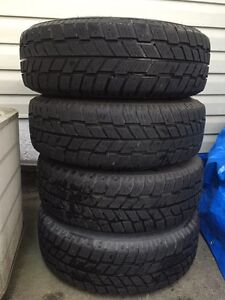 Set of 4 215/70/15 WINTER tires on rims