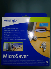 Kensington microsaver security cable for laptop brand new
