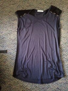Navy Long Ardene Top with Studs Stratford Kitchener Area image 1