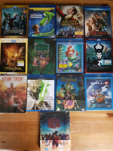 Blu rays for sale. Great titles: Avengers, greatest showman etc