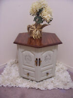 Rustic Chic Large End/Bedside Table for sale