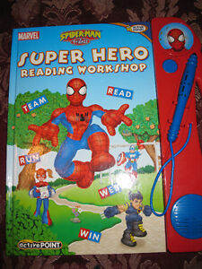 NEW English Interactive Spiderman & Friends Book