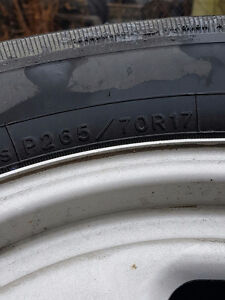 4 tires and rims P265/70R17