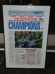 1992 Toronto Star - toronto blue jays - World Series Champs