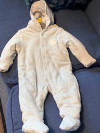Baby blue dot bodysuit