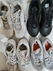 Four pairs of ladies trainers