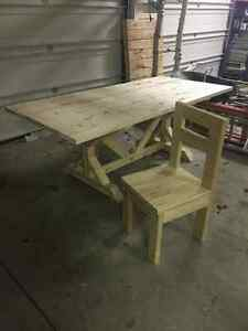 Kitchen harvest tables/benches/chairs
