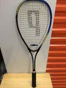 PRINCE SQUASH RACQUET LIKE NEW, NEW BABOLAT OVERGRIP
