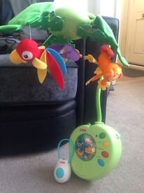 Fisher Price Rainforest Peek A Boo Musical Mobile