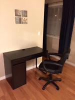 IKEA desk w/ chair - near new