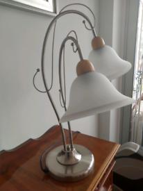 Table Lamp Chrome Glass brushed satin modern