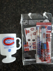 Montreal Canadiens mug and activity set with stickers