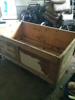 Lg wooden crate