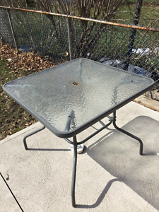 For sale: Outdoor glass table