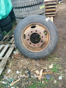 1  11R 22.5 Michelin Driving Tire on 10 Hole Rim 90% tread