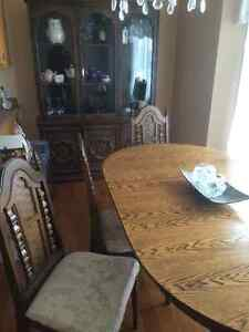 Dining room table and china cabinet St. John's Newfoundland image 2
