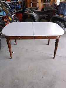 Solid antique table