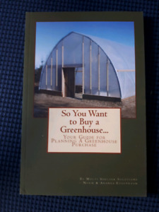 Local author! Book: So You Want to buy a Greenhouse...