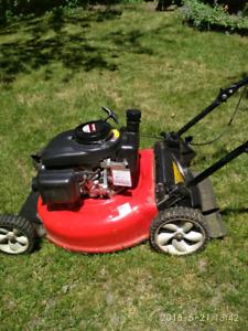 Gas lawn mower.