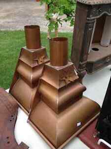 VINTAGE PURE COPPER EAVES DOWNSPOUT COLLECTORS - PARKER PICKERS