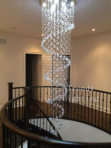 Cheap special sale crystal spiral raindrop chandelier light