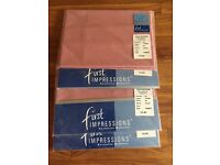 4 brand new single flat sheets & 4 pillow cases