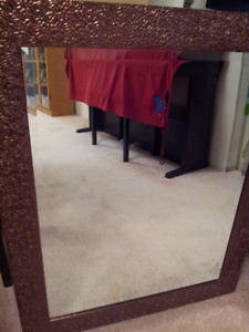 Cute Pink Framed Mirror For Sale.